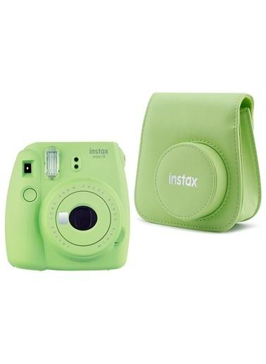 Fujifilm instax mini 9 Yeşil Fotoğraf Makinesi ve Deri Çanta Seti Yeşil